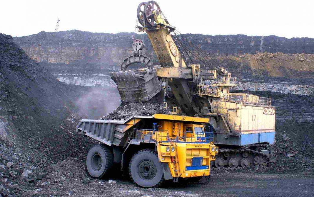 na těžbě uhlí